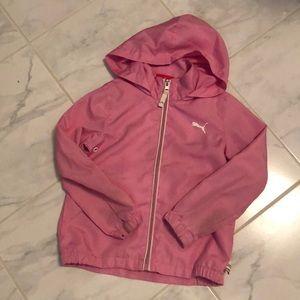 Puma girls light jacket with hood